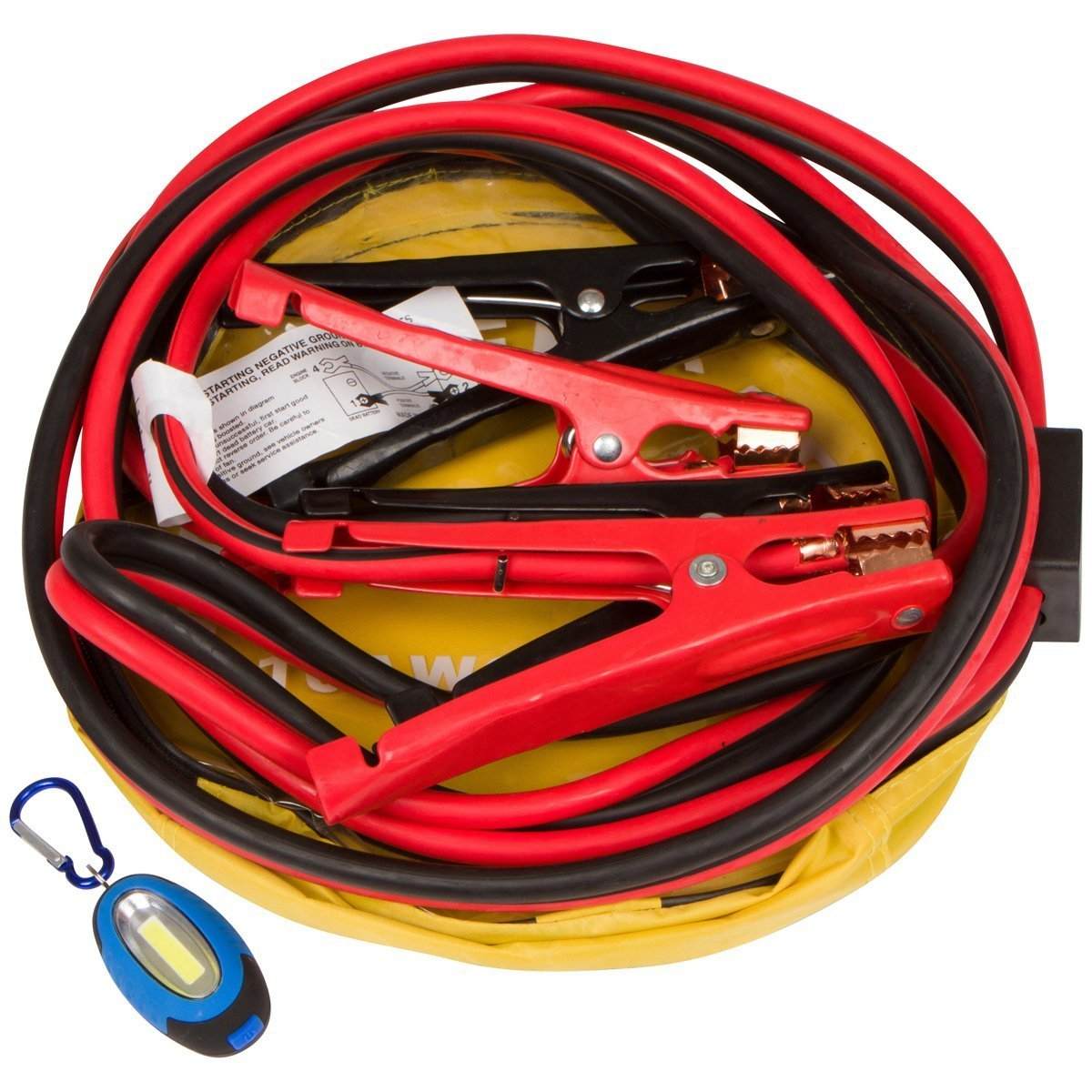 Jumper Cables With Key Chain Safety Flashlight Booster Cables Are 12 ...